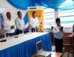 GOBERNADOR REGIONAL PRESENTO LOS EQUIPOS BIOMEDICOS PARA EL HOSPITAL JAMO DE TUMBES