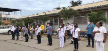 """IZAMIENTO DEL PABELLÓN NACIONAL POR EL DÍA DE LA MEDICINA PERUANA EN EL HOSPITAL REGIONAL II-2""""JAMO"""" DE TUMBES."""