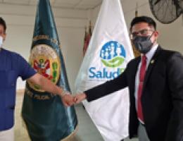 """Hospital Regional II-2 """"JAMO"""" de Tumbes firma convenio de intercambio de prestación a SALUDPOL."""